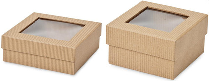 kraft gift boxes with window