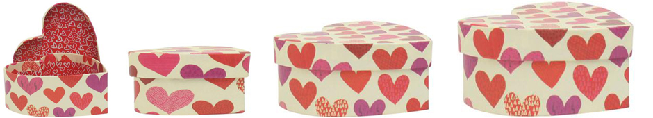 heart shape kraft boxes