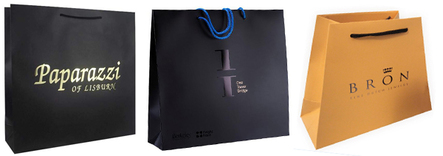 laminated paper bags with embossing logo