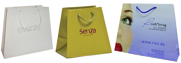 trapezoid shape paper bags
