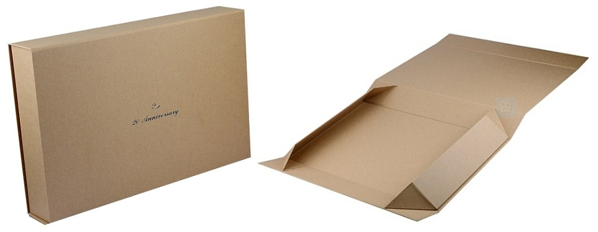 collapsible kraft rigid boxes with printed logo