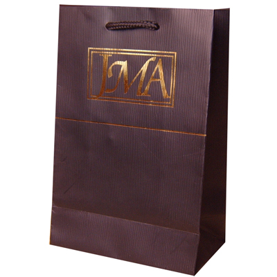 Luxury Paper Bags With Hot Stamping Logo And Embossing Line