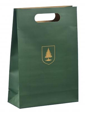 Die Cut Handle Brown Kraft Paper Bags With Printed Logo