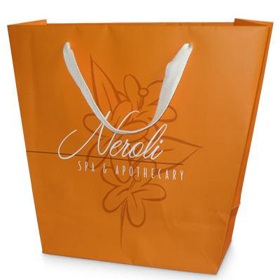 Printed luxury white kraft bags