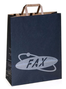 printed brown paper bags with flat handles