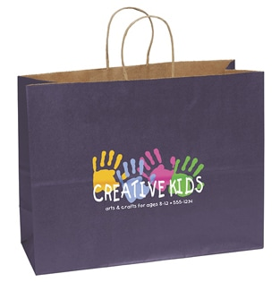 Printed Kraft Paper Bags With Twisted Handle