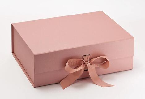 rose gold color foldable gift boxes